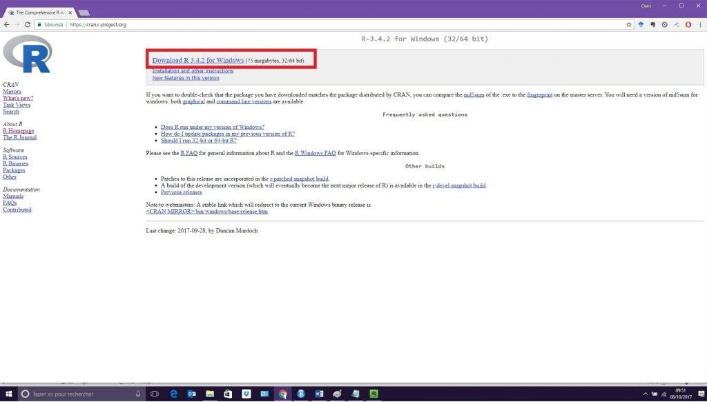 Installer le logiciel R (3)
