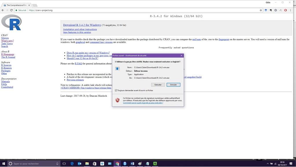 Installer le logiciel R (4)