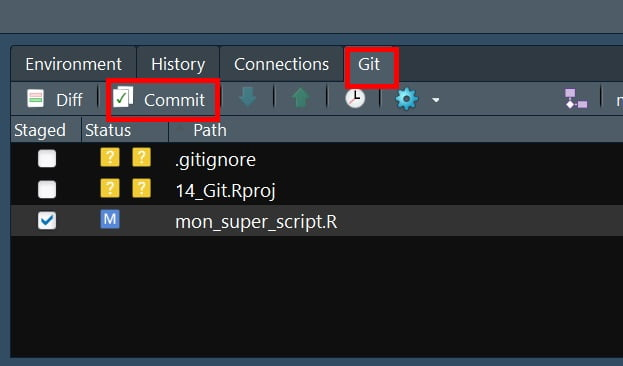 modification R code git