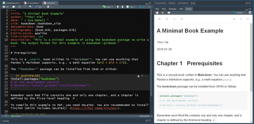 rédaction note technique avec le logiciel R