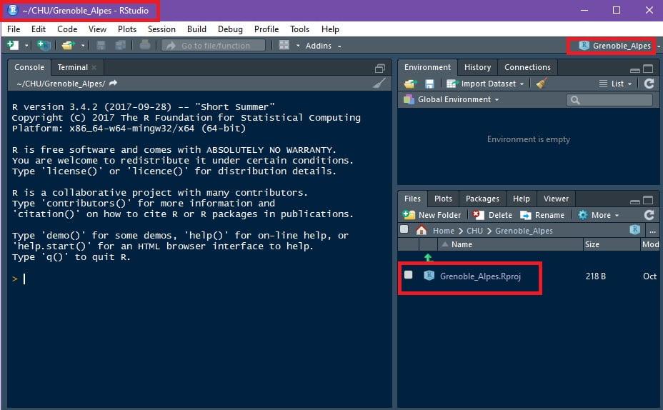 organiser travail logiciel R