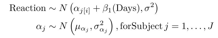 equation d'un modèle mixte