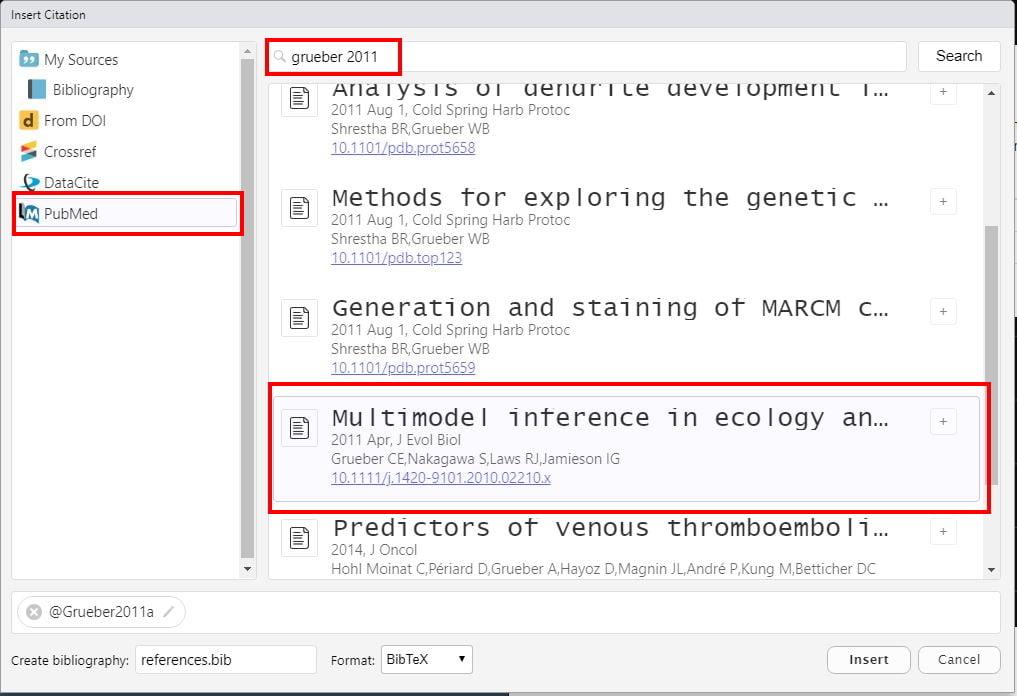 gestion de la bibliographie avec rmarkdown